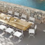 Wrought Iron Patio Dining Table White