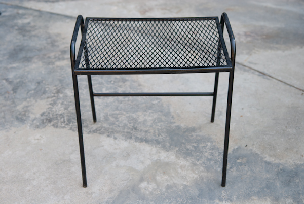 Picture of: new ideas metal patio side table and heygreenie vintage wire mesh patio side table es sold 28