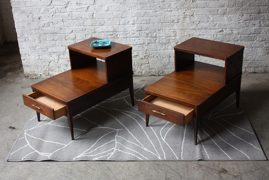 Two Mid Century Modern End Tables