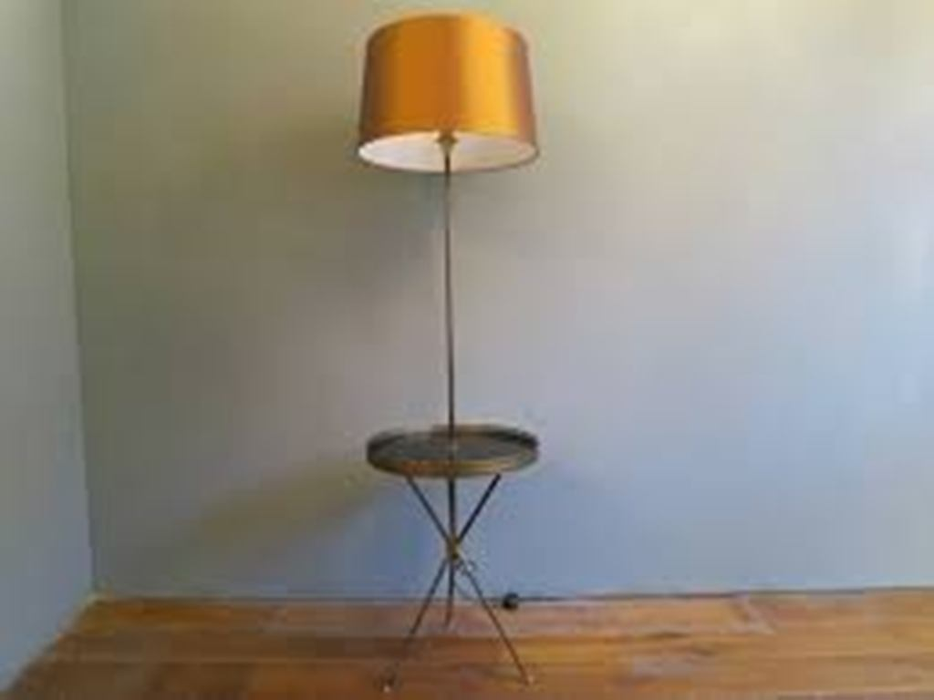Image of: Floor Lamp with Table Attached Design