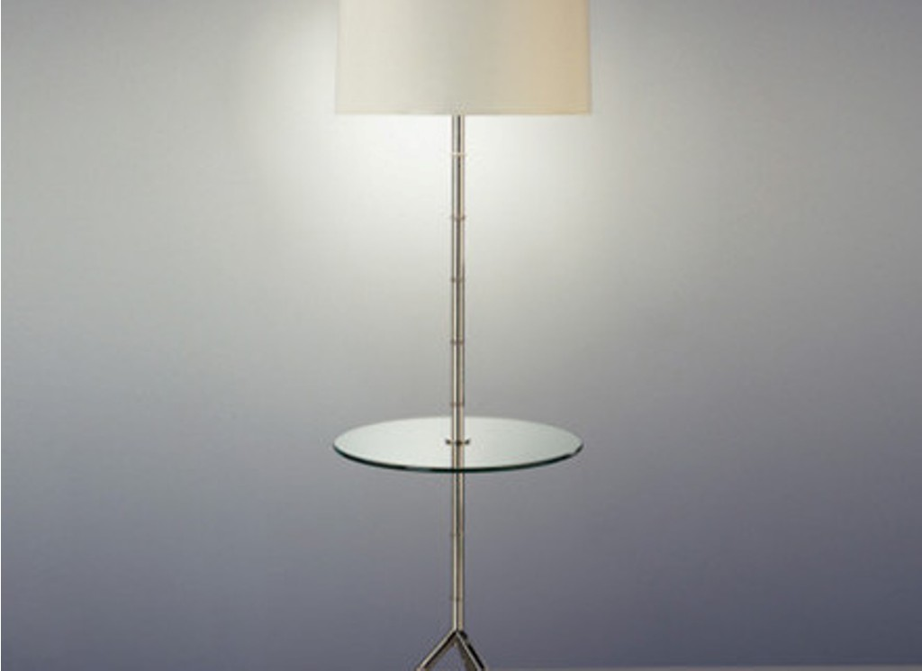 Image of: Floor Lamp with Table Attached Plan