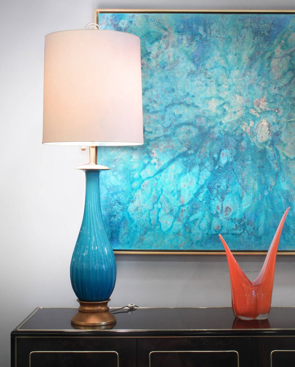 Picture of: Perfect Turquoise Table Lamp