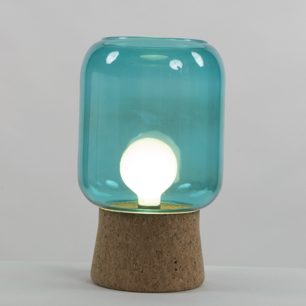 Picture of: Small Turquoise Table Lamp
