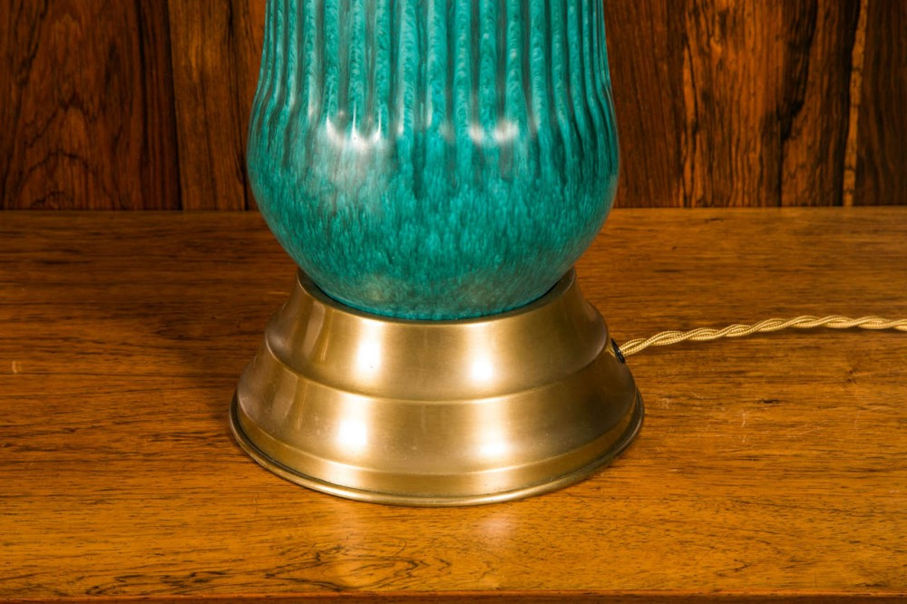 Picture of: Unique Turquoise Table Lamp