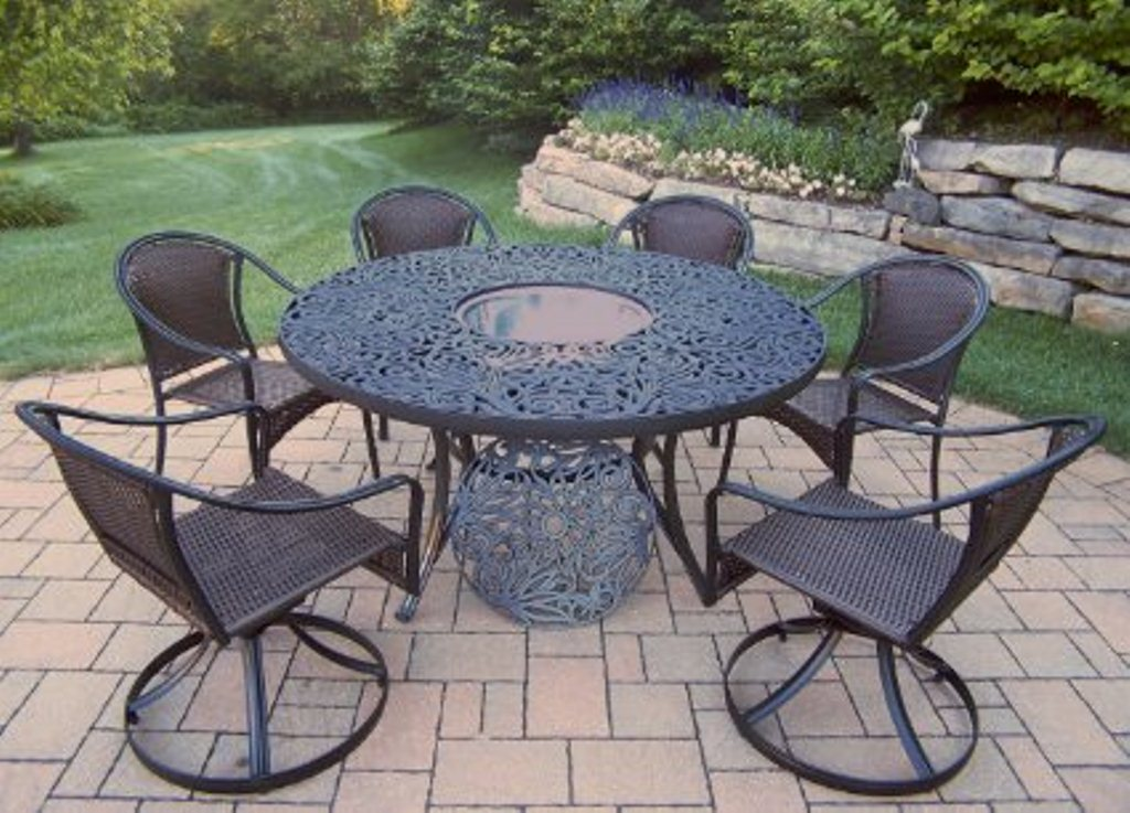 Image of: 60 Inch Round Patio Table Glass