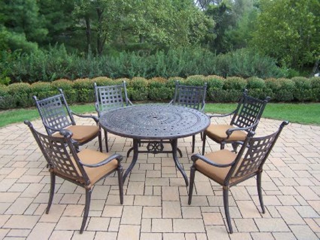 Image of: 60 Inch Round Patio Table Idea