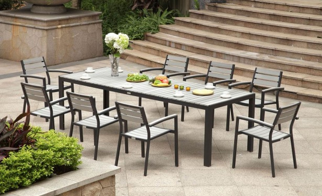 Picture of: Aluminium Rectangle Patio Dining Table