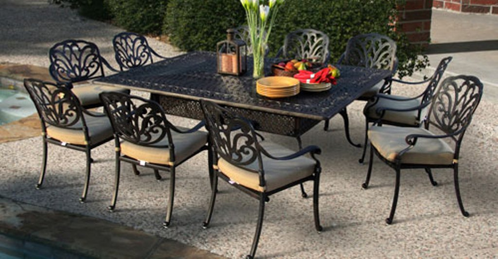Image of: Aluminum Patio Table Plan