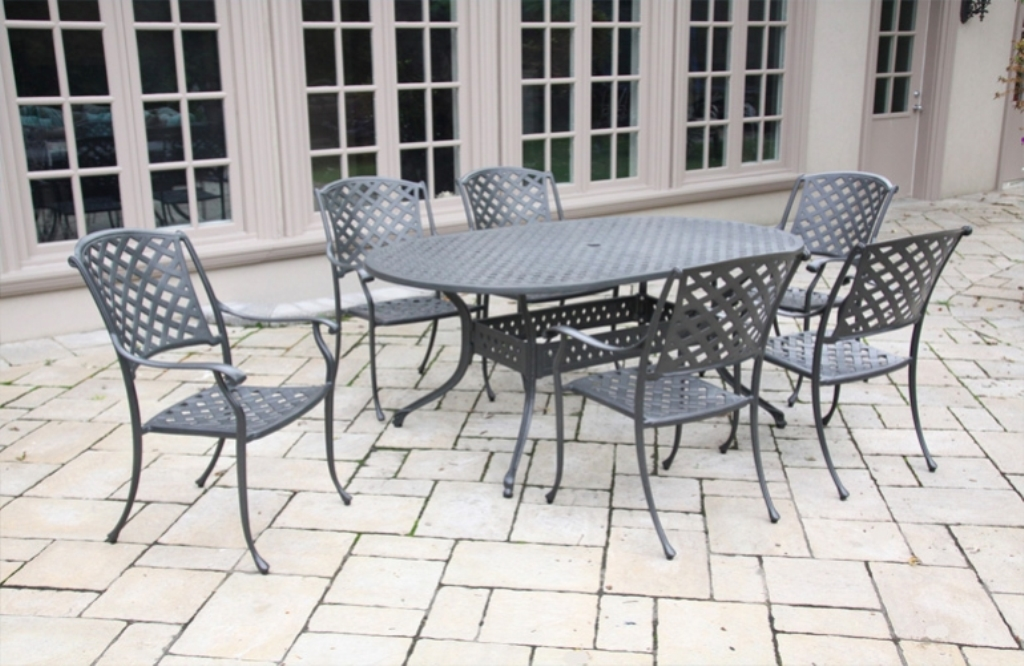 Image of: Aluminum Patio Table Top