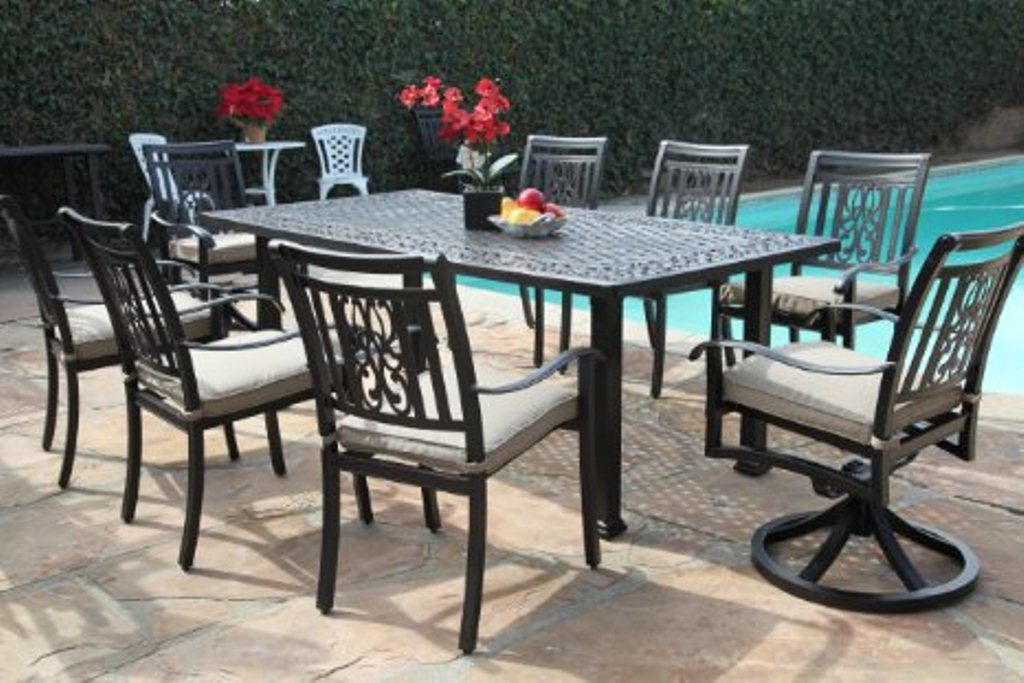 Image of: Aluminum Patio Tables and Chairs