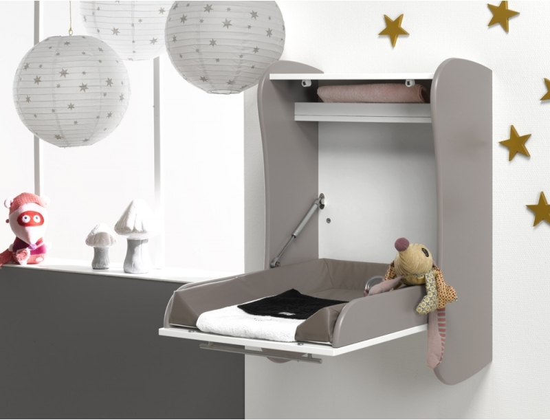 Image of: Amazing Wall Mounted Baby Changing Table