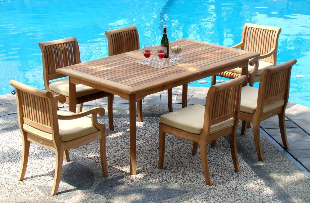 Image of: Awesome Teak Patio Table