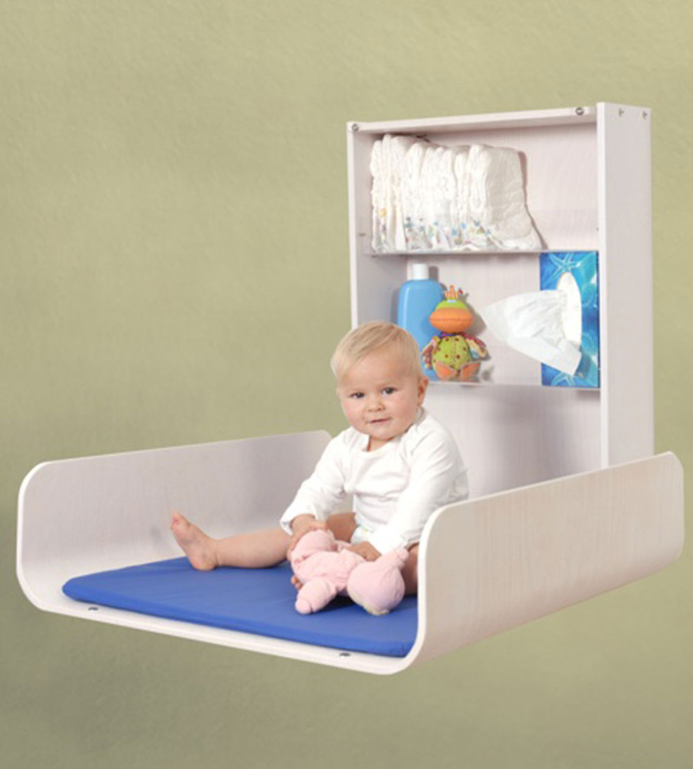 Image of: Awesome Wall Mounted Baby Changing Table
