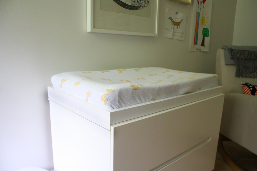 Image of: Baby Changing Table Pad Hack