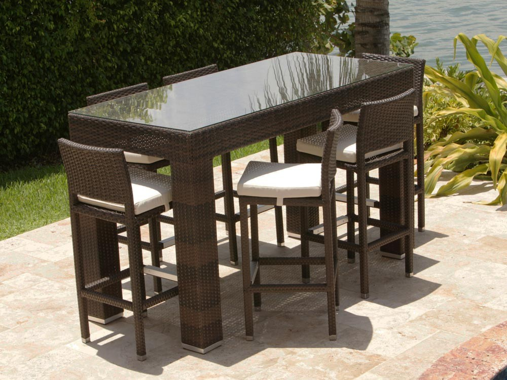 Image of: Bar Height Patio Table Inspiration
