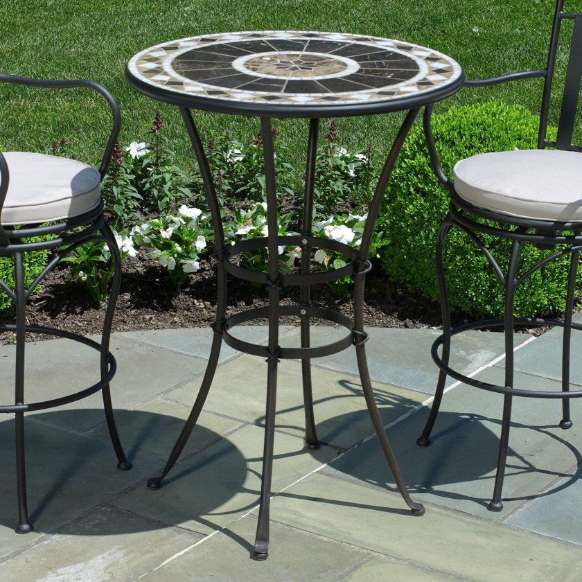 Image of: Bar Height Patio Table Round