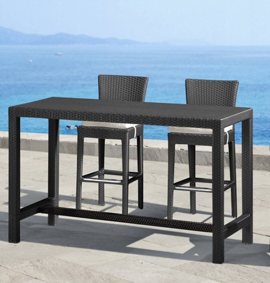 Image of: Bar Height Patio Table