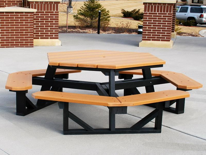 Image of: Beautiful Octagon Patio Table