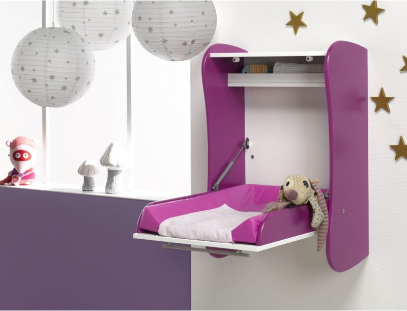 Image of: Beauty Wall Mounted Baby Changing Table
