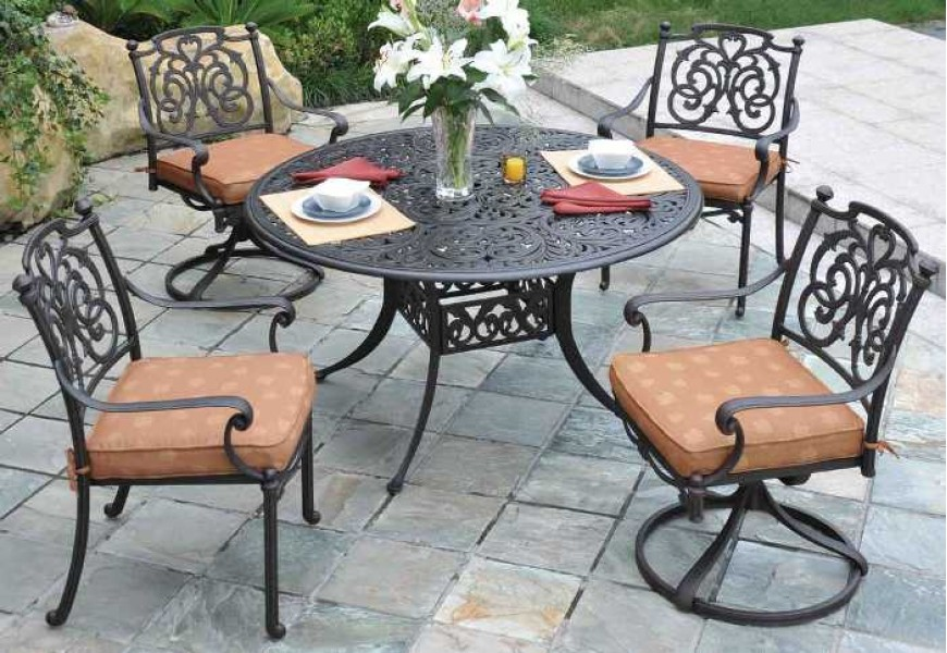 Image of: Best Cast Aluminum Patio Table
