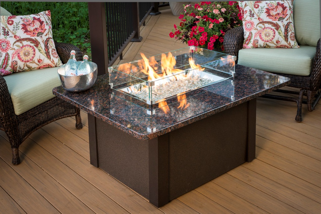 Image of: Best Outdoor Firepit Table