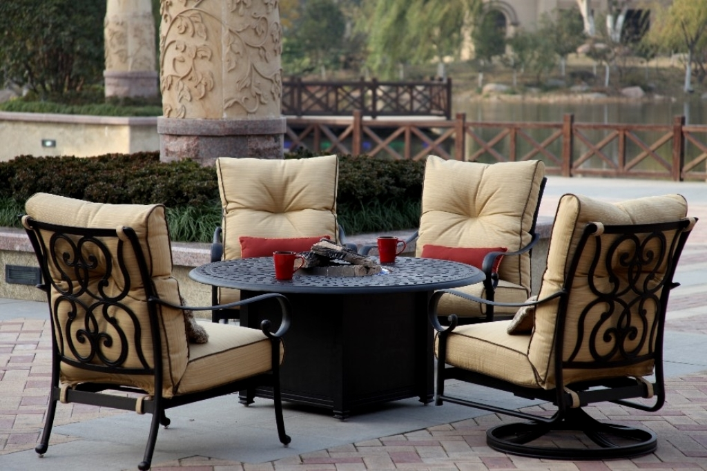 Picture of: Best Patio Furniture Fire Pit Table