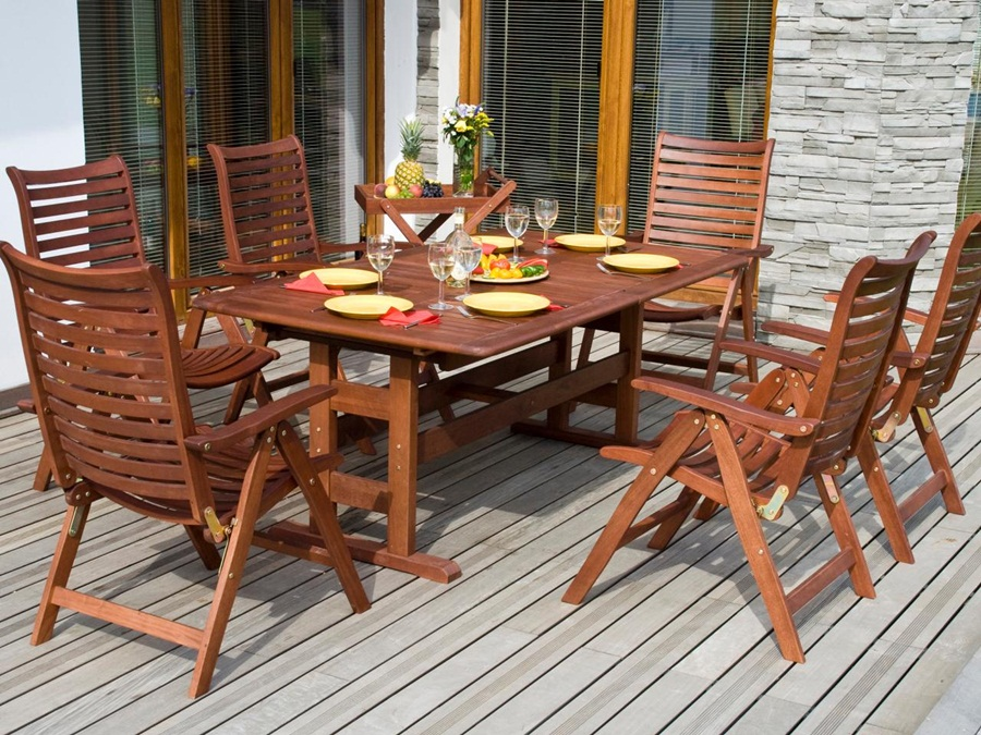 Image of: Best Teak Patio Table