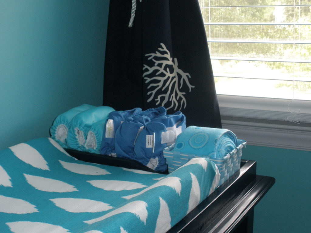 Image of: Blue Baby Changing Table Pad