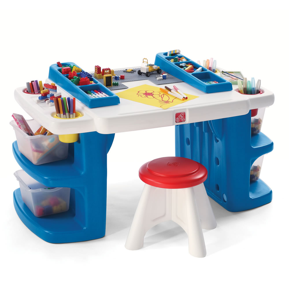 Image of: Blue Kid Activity Table