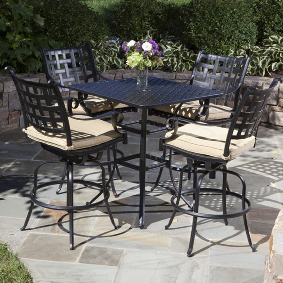 Image of: Casual Patio Bar Height Table