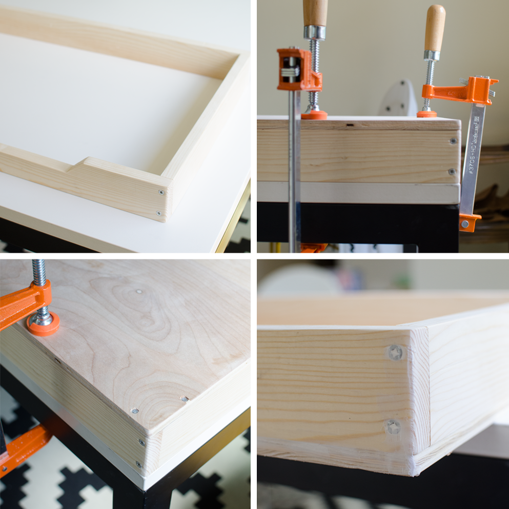Image of: Changing Table Tray Diy