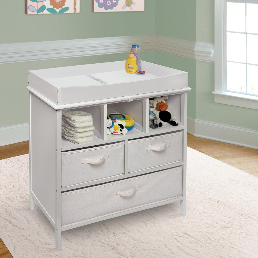 Image of: Changing Table Tray and Drawers