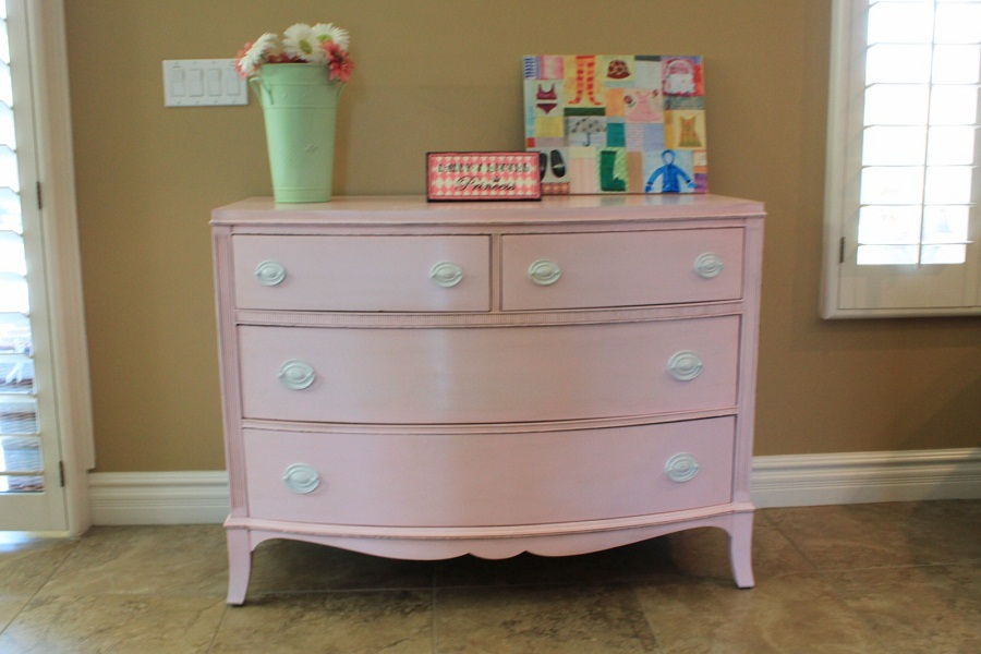 Image of: Changing Table and Dresser Reface