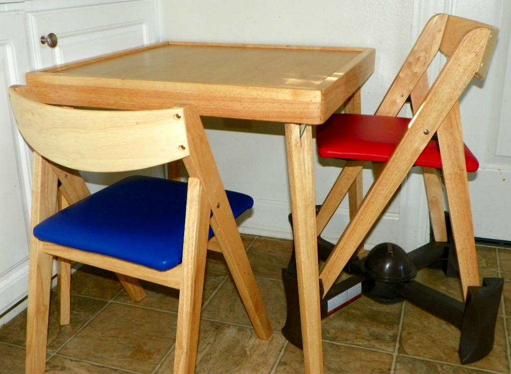 Picture of: Children Folding Table and Chairs for Kitchen Application