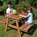 Childrens Picnic Table Backyard Wood