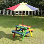 Childrens Picnic Table Rainbow
