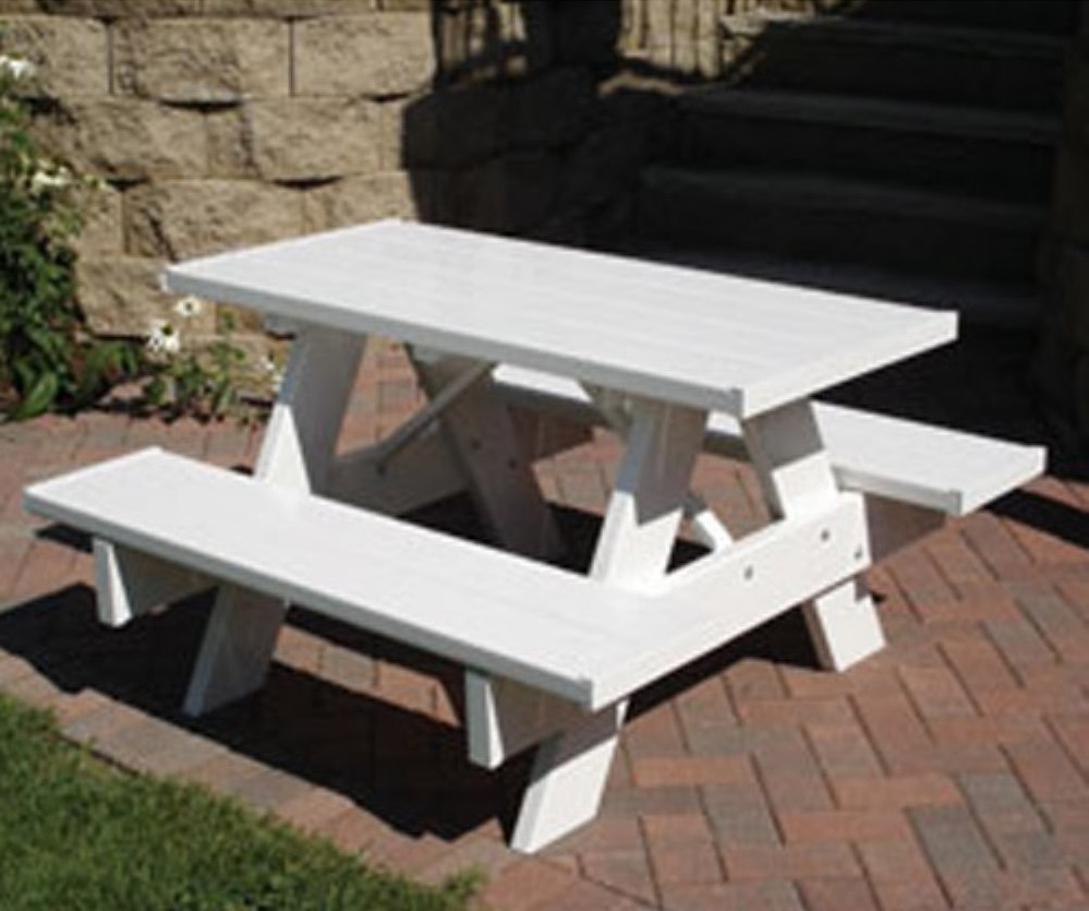 Image of: Childrens Picnic Table White Wood