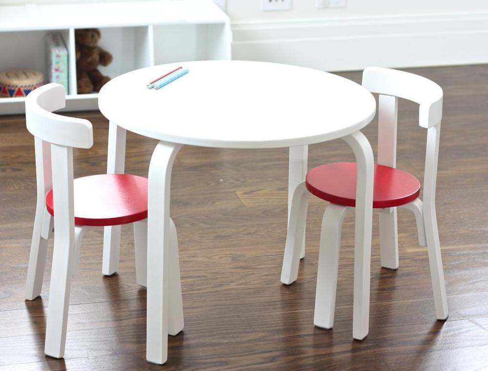 Picture of: Childrens Tables and Chairs Circle Table