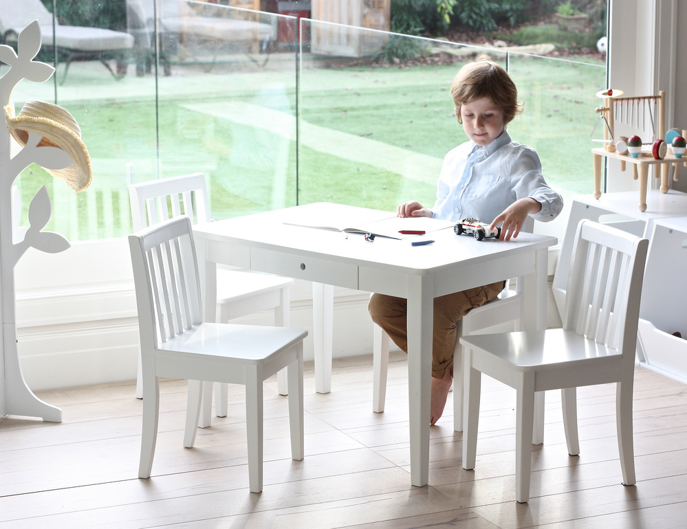 Image of: Childrens Tables and Chairs White Elegant