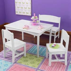 Picture of: Childrens Tables and Chairs White