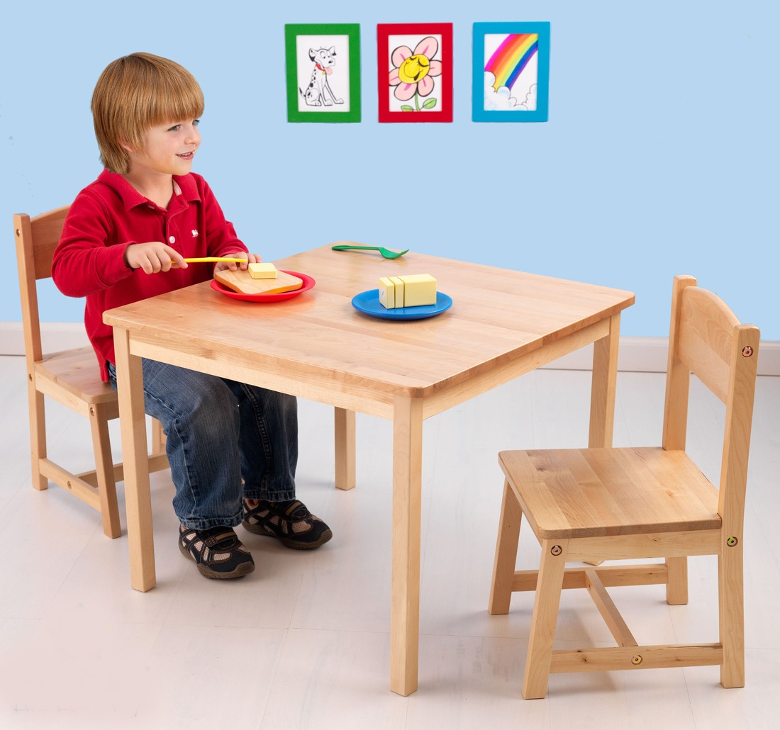 Image of: Childrens Wooden Table and Chairs Ideas