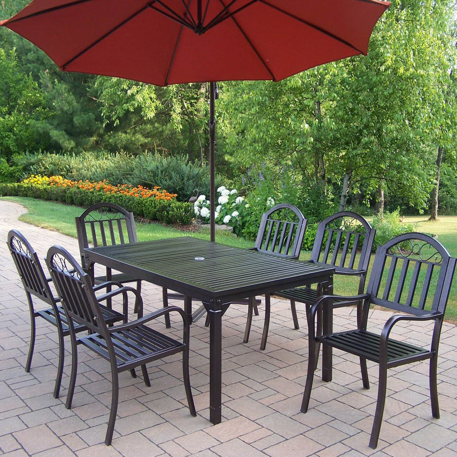 Picture of: Cozy Patio Table with Umbrella Hole