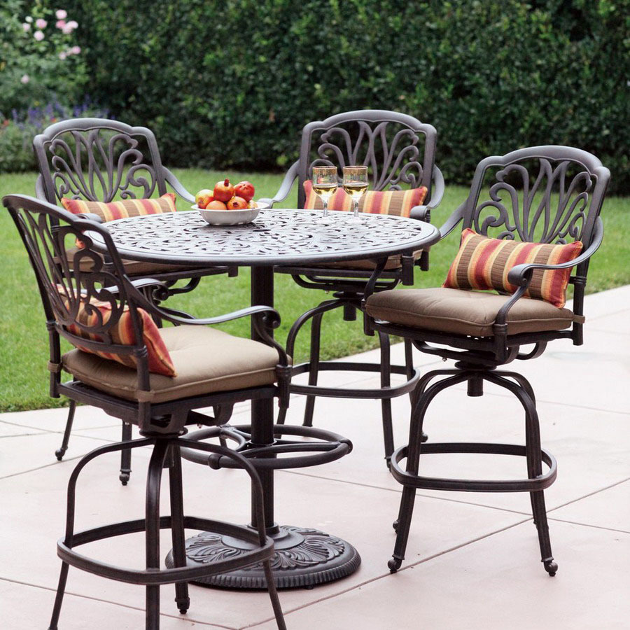 Image of: Decorative Patio Bar Height Table