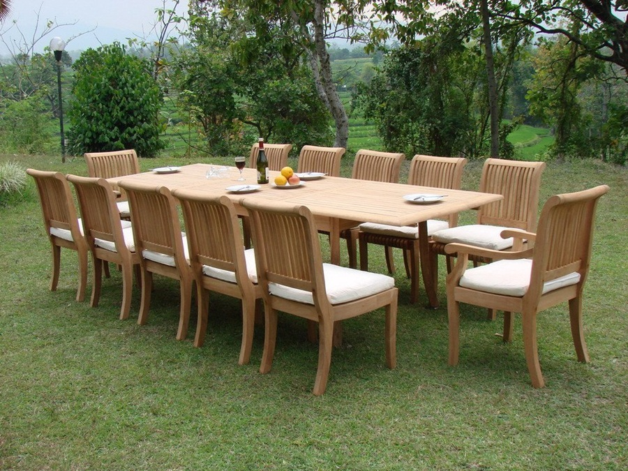 Image of: Design Teak Patio Table