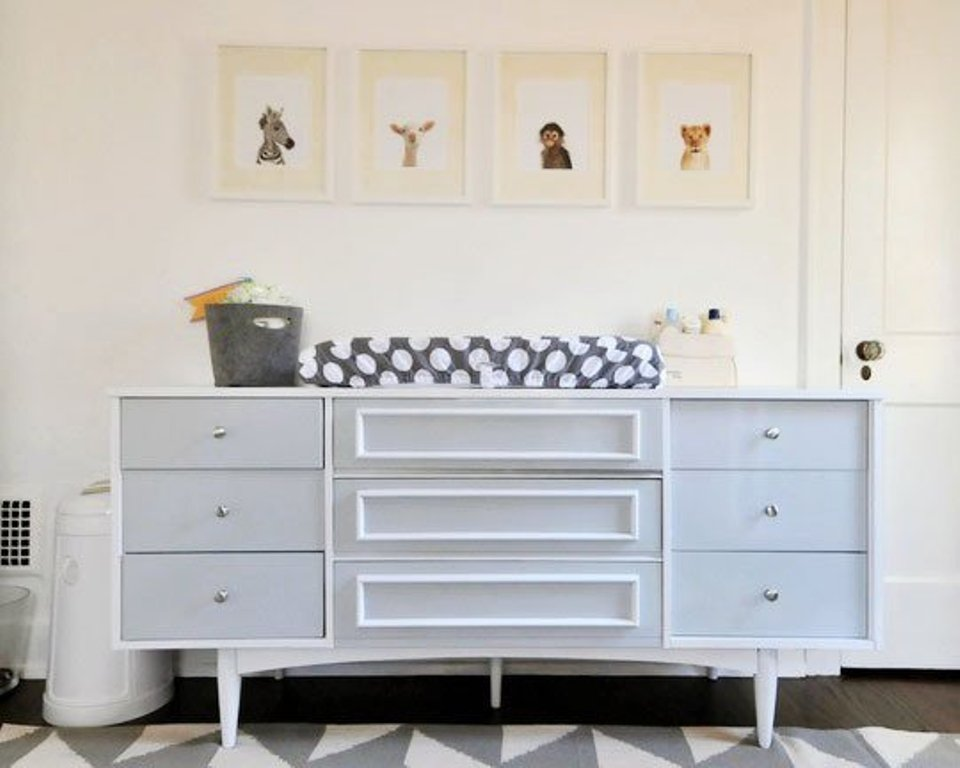 Image of: Dresser changing Table Combination