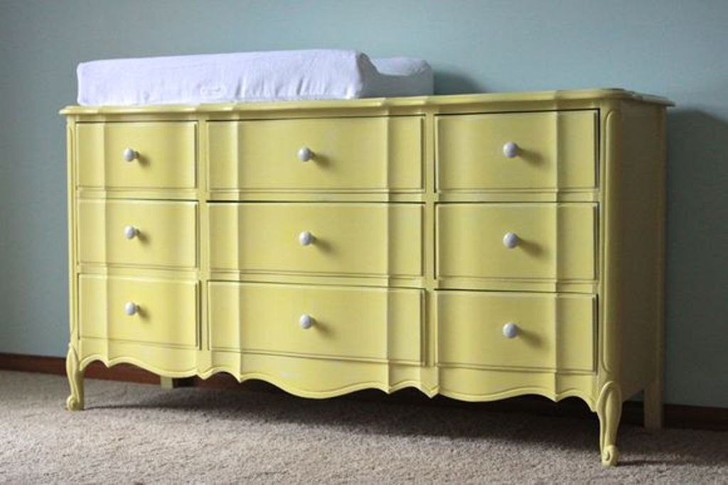 Image of: Dresser changing Table Set