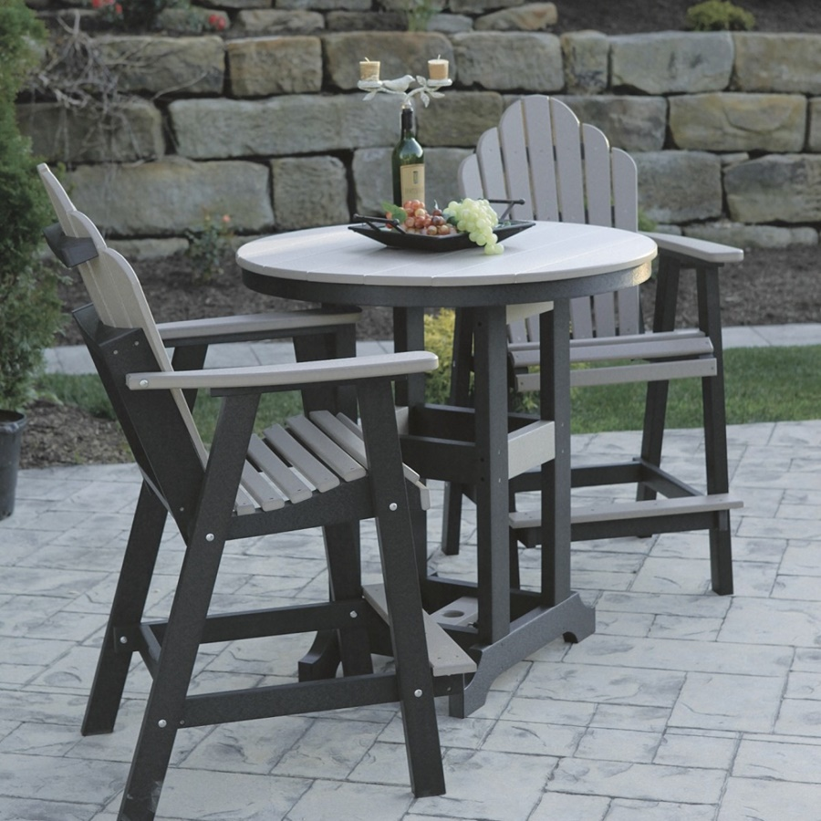 Image of: Elegant Patio Bar Height Table