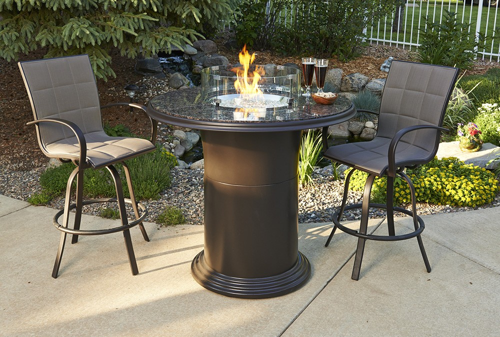 Image of: Firepit Tables Backyard