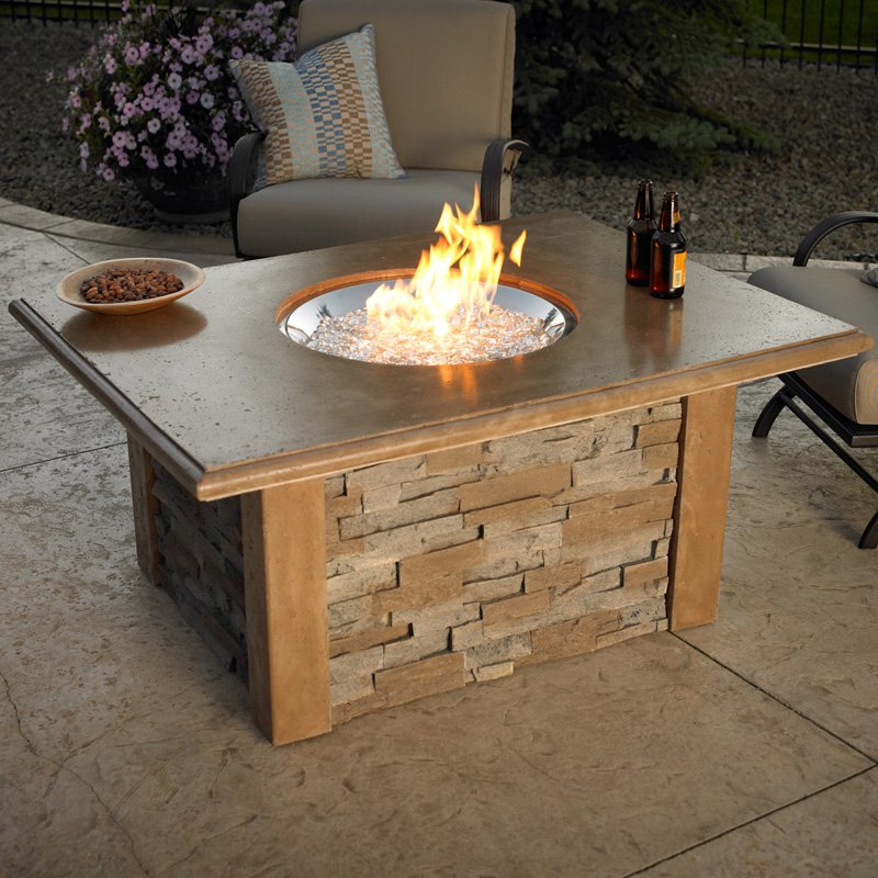 Image of: Firepit Tables Brick Wooden