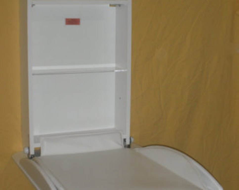 Picture of: Fold Down Changing Table Dresser Combo